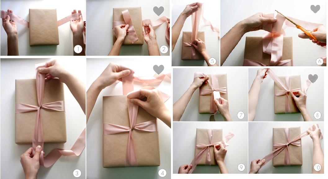 Как завернуть подарок в бумажную упаковку 96
