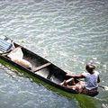 долбленая лодка американских индейцев