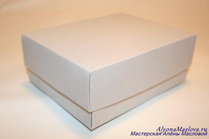 Как сделать подарочную коробку с крышкой своими руками из картона схема