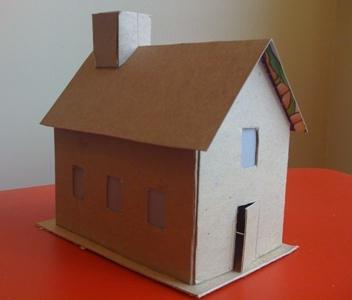 3 класс дом из картона как сделать