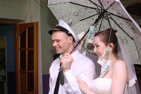 Поздравление молодоженам на свадьбу с зонтом 96