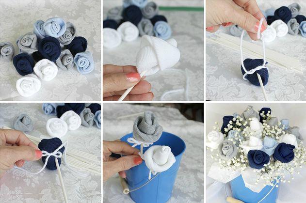 Как сделать в букет из носков