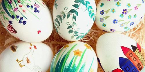 Раскрасить яйца к пасхе своими руками