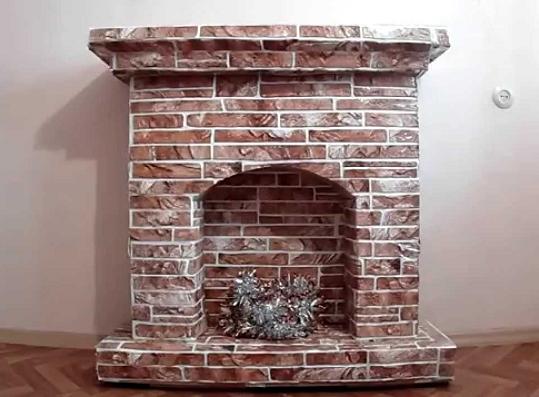 Декоративные камины из картона своими руками