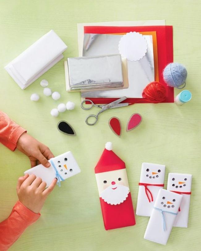 Как оформить подарки на новый год детям