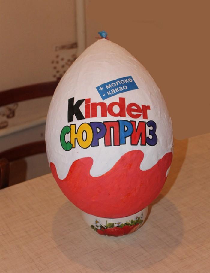 Как сделать большое яйцо сюрприз своими руками