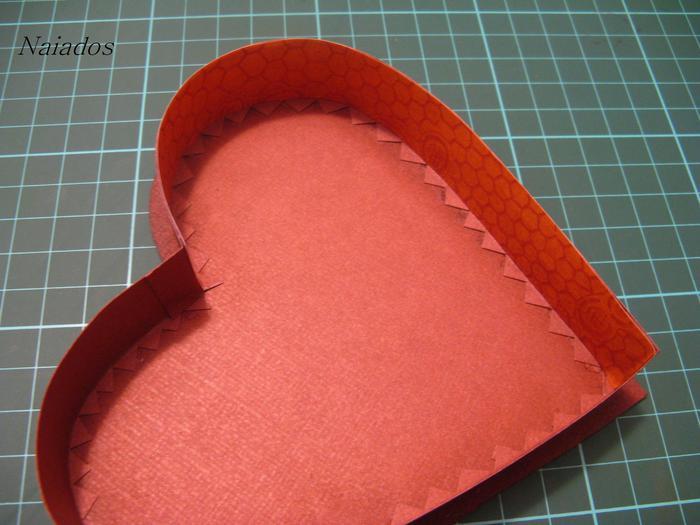 Как сделать большую коробку в виде сердца