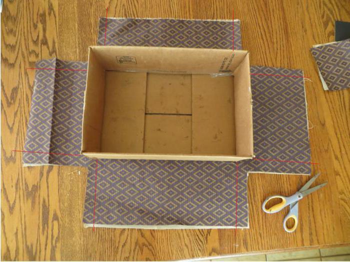 коробка своими руками обклеить тканью