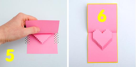 Как сделать 3d открытку своими руками на 8 марта