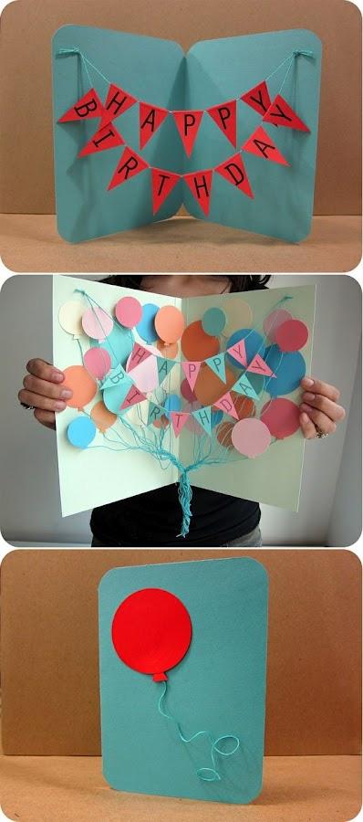 Как сделать открытку на день рождения своими руками объемную