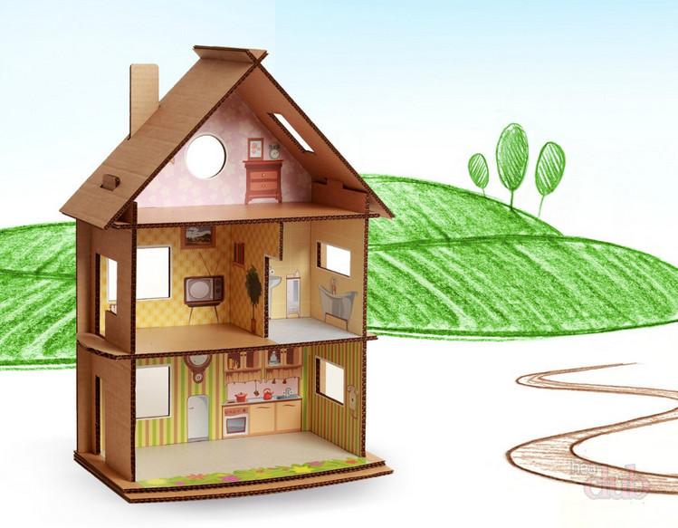 Картонный домик своими руками для кукол