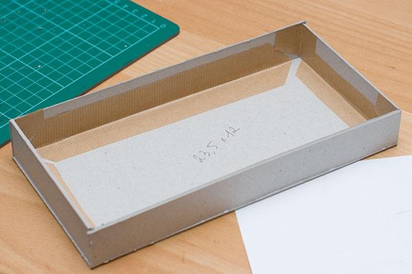 Как сделать плоскую коробку