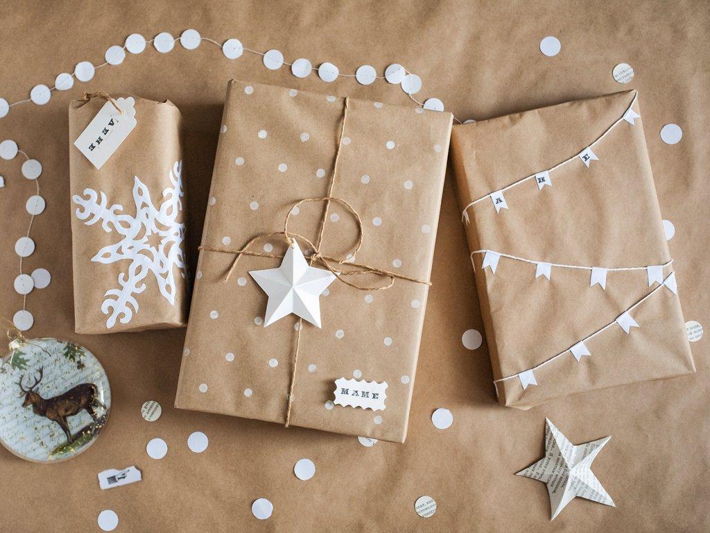 Упаковка подарка в крафт бумагу мастер класс 55