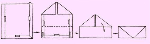 Как сделать конверт из стандартного листа