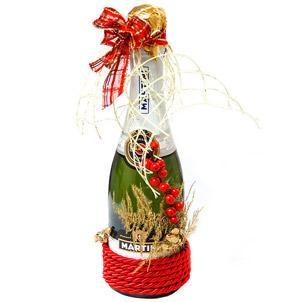Подарочная новогодняя бутылка своими руками