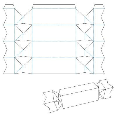 Конфеты из бумаги своими руками схемы 82
