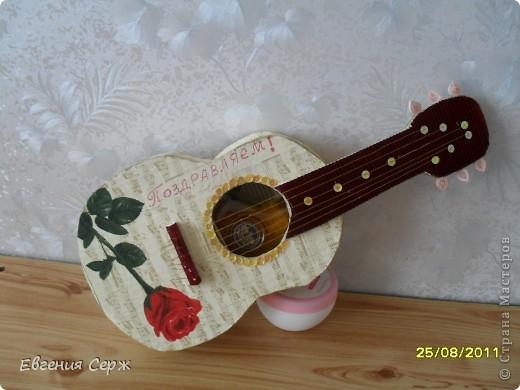 Гитара из картона своими руками пошаговое фото 89