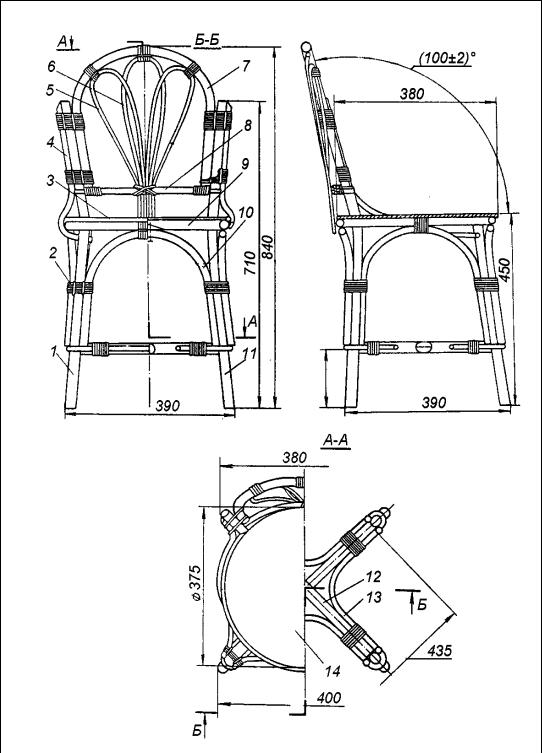 Мебель из ротанга своими руками чертежи