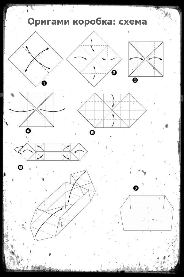 Как сделать коробку из бумаги оригами