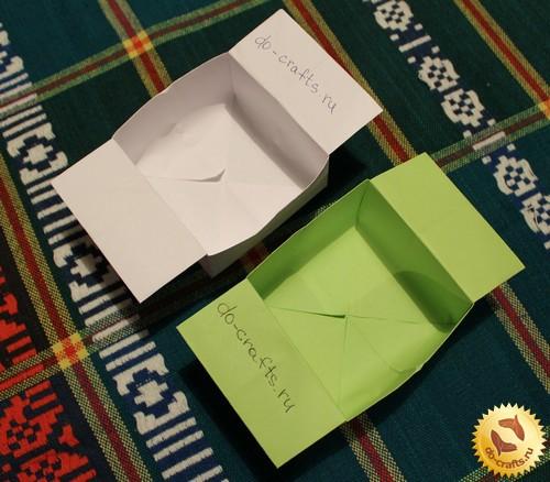 Коробочка из листа бумаги своими руками 60