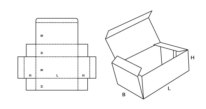Как сделать коробку с крышкой из картона схема с крышкой