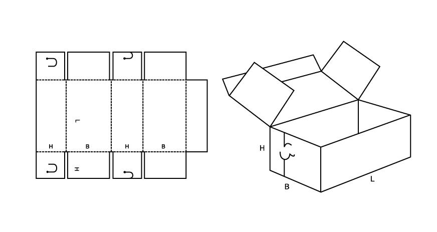 Как сделать коробку прямоугольную из картона своими руками схема с крышкой